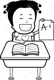 a happy cartoon student good grades royalty cliparts a happy cartoon student good grades stock vector 43783160