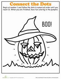 Halloween Dot-to-Dot: Scarecrow | Worksheet | Education.comHalloween Kindergarten Dot-to-Dots Worksheets: Halloween Dot-to-Dot: