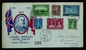 Image result for Canada 1935 silver jubilee covers