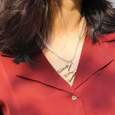 IngeSight.Z <b>Bohemian Imitation Pearl</b> Choker Necklace Collar ...