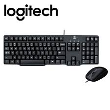 logitech combo <b>mk100</b> ps2 <b>keyboard usb</b> with mouse <b>wired</b> desktop