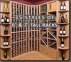 modular wine racking bellevue custom wine cellar