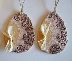 <b>Golden</b> Easter egg French decoration white ceramic by ...