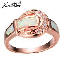 Женское <b>кольцо</b> JUNXIN, <b>белое кольцо</b> с огненным опалом ...