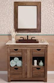 ideas open shelf bathroom vanity charming driftwood