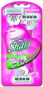 <b>DORCO SHAI 4</b> Disposable Razor X 3pcs pack for women : Buy ...