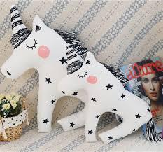 Cartoon Animals Unicorn <b>Bear Rabbit Fox</b> Rainbow Girl Cushion ...