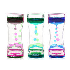 2019 <b>Double Colors Oil Hourglass</b> Liquid Motion Bubble Timer With ...