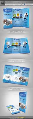 cloud hosting service tri fold brochure template by katzeline cloud hosting service tri fold brochure template informational brochures