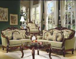 formal living room decoration ideas brown wood chair couches sets round brown lacquered wood coffee table furniture in style