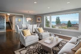 gray and yellow furniture dyna blakely trendy living room photo in seattle with gray walls blue dark trendy living room