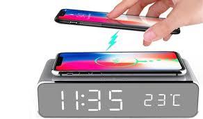 <b>2</b>-in-<b>1 LED</b> Alarm Clock & <b>Wireless</b> Charging Station - Save up to 73 ...