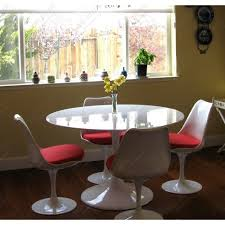 Acrylic Dining Room Chairs Dining Room White Round Ikea Tulip Table With Four Padded Acrylic