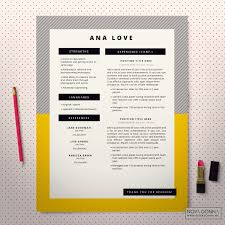 resume template cv template design cover letter modern pop resume template page 2