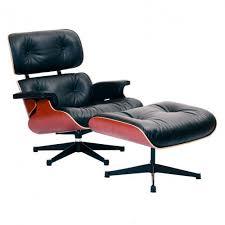 eames lounge chair ottoman classic black leather cherry blackpolished balzac lounge chair designer