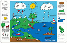 water cycle for kids  a placemat