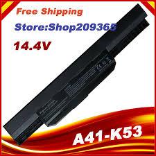 14.4V <b>laptop battery</b> pack A32-K53 A41-K53 for ASUS K53 K53E ...