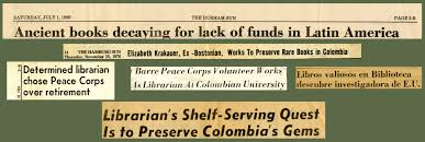 peace corps community archives elizabeth krakauer determined peace corps librarian