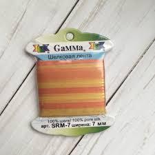 <b>SRM</b>-<b>7 7 Лента</b> декоративная <b>Gamma</b> шелковая M119 рыжий ...