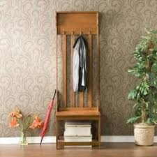 placid oak entryway bench by southern enterprises 15099 csn0804 features hall tree alba chromy coat tree knobs