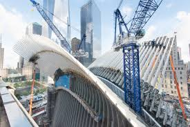 world trade center skanska cranes last year working to build the oculus entrance portal to the world trade center transportation hub our teams bring much passion