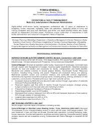 Resume Restaurant Managers Resume