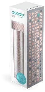 Купить Термобутылка asobu Skinny Glitter (<b>0</b>,<b>23 л</b>) <b>pink</b> по низкой ...