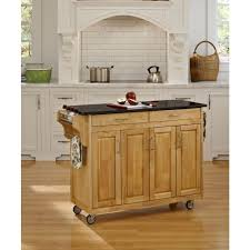 Crosley Kitchen Cart Granite Top Crosley Black Kitchen Cart With Granite Top Kf30023ebk The Home