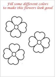 Small Picture Coloring Pages Of Small Flowers Coloring Pages