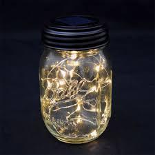 fairy light mason jar lid solar powered led blue mason jar string lights