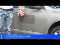 How to remove sticker glue from car paint - YouTube