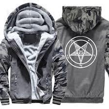 Pentagram Men Thicked Hoodies <b>Occult Gothic</b> Satan Sweatshirt ...