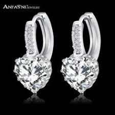 ANFASNI 2016 Top Selling Silver Color Luxury Hoop <b>Earring</b> Inlay ...