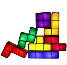 <b>LED Luminous Tetris Lamp</b> Children DIY Intelligence Development ...