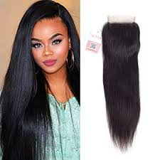 Buy 10 Straight: Hmd 4X4 <b>Free Part Straight</b> Hair Closure Natural ...