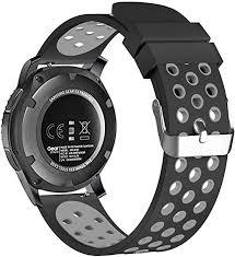 <b>22mm</b> Smart Watch Bands, FanTEK <b>Silicone Sport</b> Quick Release ...