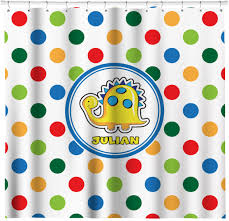 dots dinosaur shower curtain personalized potty scotty dots dinosaur shower curtain personalized