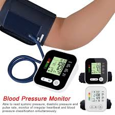 <b>LCD Digital Arm Cuff</b> Blood Pressure Monitor Heart Rate Beat Pulse ...