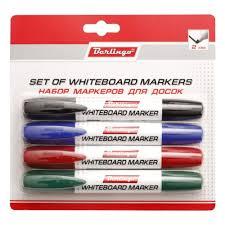 Набор <b>маркеров Berlingo</b> для магнитно-маркерных досок, 2мм, <b>4</b> ...