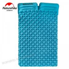 naturehike 2 person inflatable sleeping pad air mattress nylon tpu moisture proof portable camping mat bed nh19z055 p