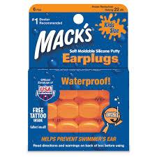 Mack's Soft Silicone Putty <b>Children's Waterproof Ear Plugs</b> – Kids Size