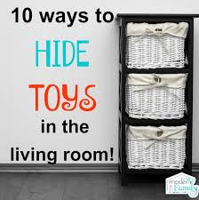 storage solutions living room: hide toys in the living room
