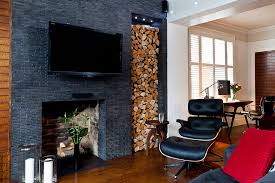 blenheim road example of a minimalist living room design in london with a standard fireplace a eames lounge chair bedroominteresting eames office chair replicas style