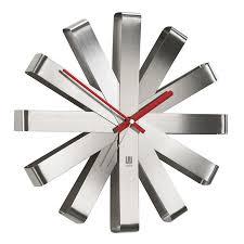 <b>Часы настенные Ribbon</b> сталь от Umbra (арт. 118070-590 ...
