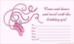 14 printable birthday invitations many fun themes 1st birthday cute birthday invitation for girls pink ballerina ballet shoes