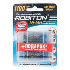 <b>Аккумулятор Robiton</b> LR03 <b>AAA</b> 1100 mAh (уп 4 шт) + футляр ...