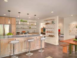 Concrete Floor Kitchen Light Kitchen Cabinets Light Countertops And Concrete Floor