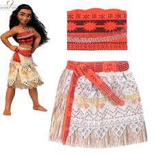<b>Free Ship wholesale</b> 2 pc <b>Summer</b> Casual Suit Moana Cosplay ...