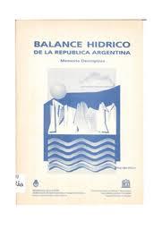 Balance hídrico de la República Argentina: memoria descriptiva ...