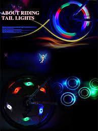 <b>1pc</b> Willow Shape LED <b>Bicycle Wheel</b> Spoke Light Waterproof Bike ...